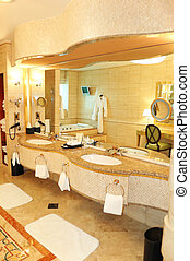 Bathroom in luxury hotel, Dubai, UAE - Bathroom in luxury...