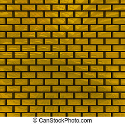 Gold bricks texture
