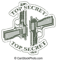 Top secret stamp - The vector image of a Top secret stamp