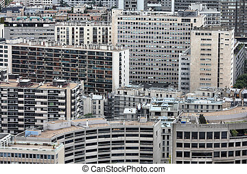 Paris skyscrapers - Paris, France - aerial metropolis view...