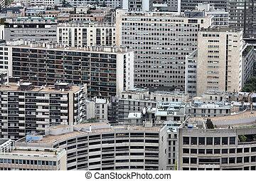 Paris skyscrapers - Paris, France - aerial metropolis view...