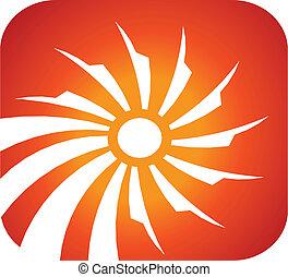 Solar rays icon