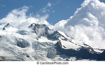 Monte Rosa (pink mountain). Italian side