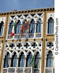 Venice - typical adornments for venetian windows