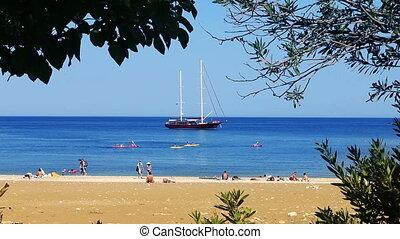 Sail Boat at the beach