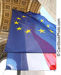 EU and French flags