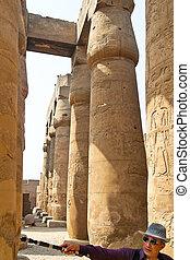 egypt, luxor amun temple of luxor - africa, egypt, luxor...