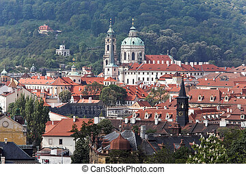 prague, st nicholas church photo of the church from the...