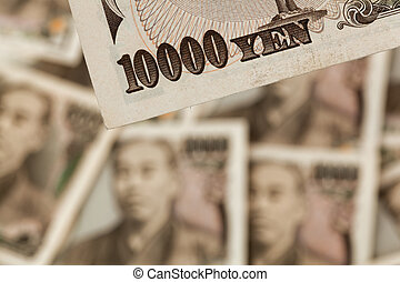 japanese yen bills. money from japan - japanese yen bills....
