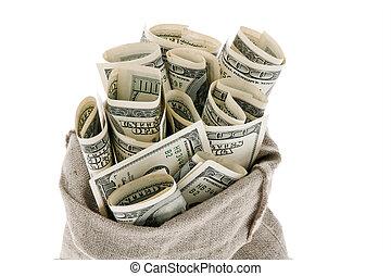 U, s, Dollars, lagförslaget, säck
