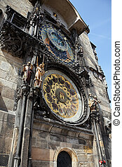 prague astronomical clock on old town hall