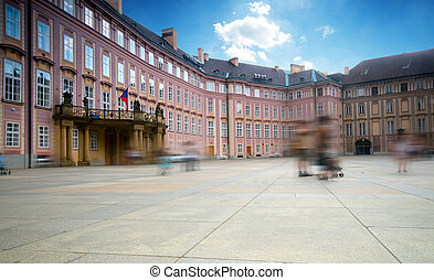 Prague's castle, 3rd yard. Balcony is occasionaly used by...