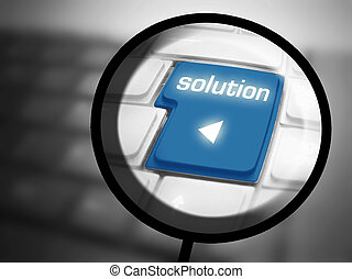 Solution button on keyboard - Solution button with...
