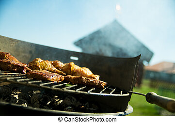 Barbecue - Cooking on the barbecue grill