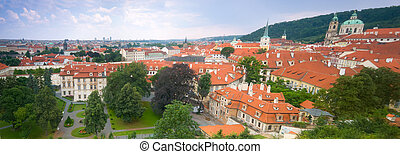 Prague, Mala Strana panorama View from Hradcany