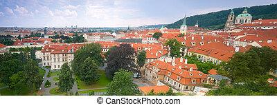Prague, Mala Strana panorama. View from Hradcany.