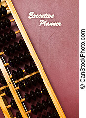 Financial Planning Concept - executive planner and...