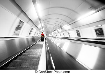 Subway stairs. Motion - Subway stairs. Abstract rush motion...
