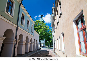 Historic buildings. Zamosc, Poland - Historic buildings in...