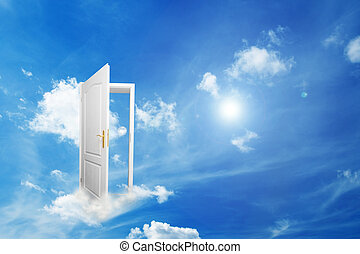 Door to new world. Hope, success, new way concepts - Door to...