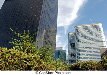Skyscrapers in daylight, Paris