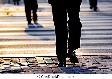 Business people background - Business people on the street