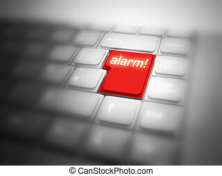 Big red ALARM! button - Big red button with ALARM! message.