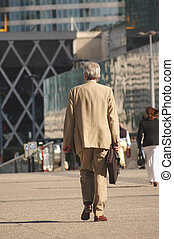 Businessman go to work - Senior businessman go to work