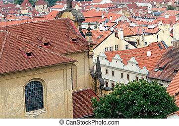 Prague, Mala Strana. View from Hradcany.