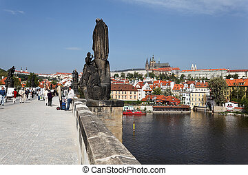 prague, on the charles bridge