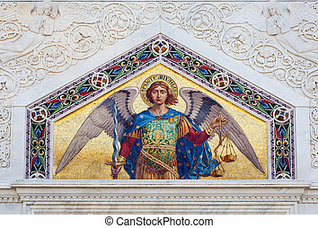 St Michael the Archangel - Mosaic of St Michael the...