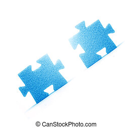 Putting two pieces together - Putting two pieces of puzzles...