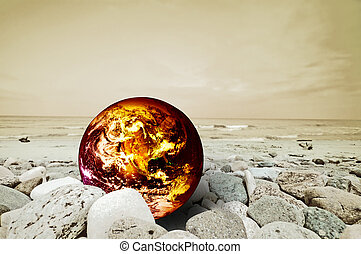Global warming - The Earth disaster. Global warming...
