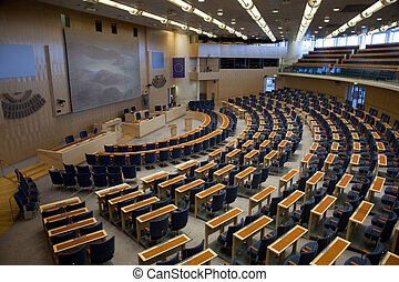 Interior of Swedish parliament in Stockholm - Stockholm,...