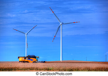Modern agriculture, wind turbines