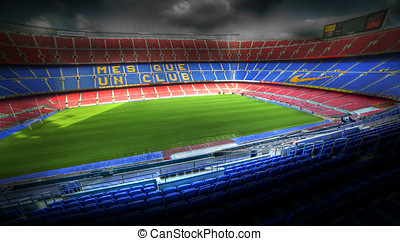 The Camp Nou stadium in Barcelona, Spain - BARCELONA SPAIN -...