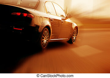 Fast sport car