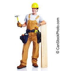 Industrial worker. - Industrial worker with yellow helmet....