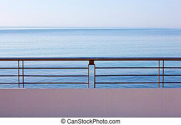 Sea ??view in the city of Grado, Italy