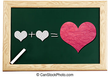 love or romantic relationship concept presented on...