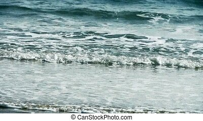 nice waves on sandy beach