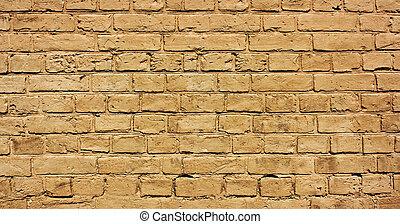 brick wall - vintage brown textured brick wall