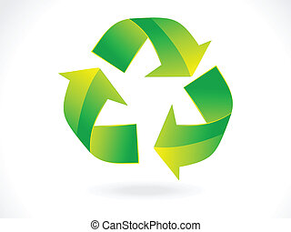 abstract recycle icon vector