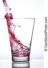 Red water splash