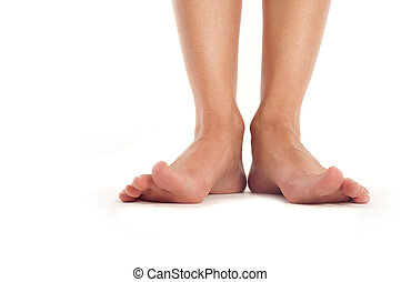 female feet with splayed fingers - healthy female feet with...