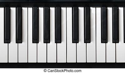 elektronikus, zongora, billentyűzet