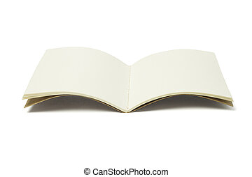 Open Thread Sew Book - Open Blank Thread Sew Book on White...
