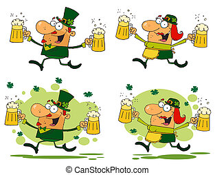 Running Funny Leprechauns Collection
