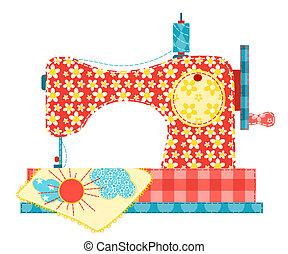 裁縫, 機械, 白