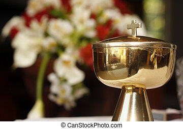 Chalice - A chalice picture used in a Catholic mass